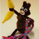 Proki Kunstwerk Pfeifenreiniger Affe